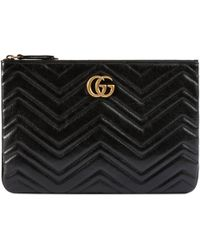 Gucci GG Marmont Clutch - Black