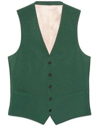 Gucci Wool Mohair Formal Vest - Green