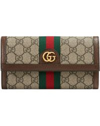 Gucci Ophidia GG Continental Wallet - Brown