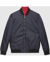 Gucci グッチGGナイロン リバーシブル ボンバージャケット - ブルー