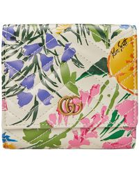 Gucci - Portefeuille porte-cartes GG Marmont à imprimé Ken Scott – Exclusivement en ligne - Lyst