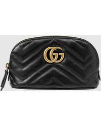 Gucci GG Marmont Kosmetiketui - Schwarz
