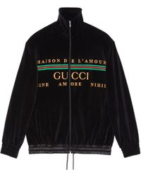 Gucci Logo Embroidered Jacket - Black