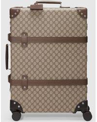 Gucci 【公式】 (グッチ)グローブ・トロッター GG ミディアム スーツケースベージュ/エボニー GGスプリームベージュ - マルチカラー