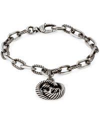 Gucci Silver Bracelet With Interlocking G - Metallic