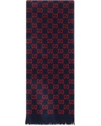 Gucci GG Wool Scarf - Red
