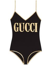 Gucci Traje de baño con estampado - Negro