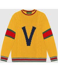 Gucci グッチdiy ユニセックス ウール セーター - イエロー