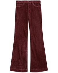 Gucci Stonewashed Cotton Flare Pants - Red
