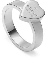Gucci Heart Sterling-silver Ring - Metallic
