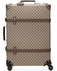 Gucci Globe-trotter Gg Large Suitcase - Natural