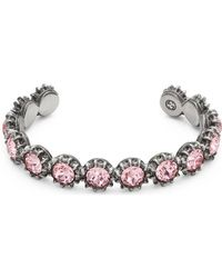 Gucci - Cuff Bracelet With Crystals - Lyst