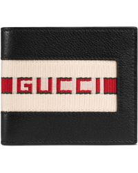 Gucci Bi-fold Wallet With Retro Logo - Black