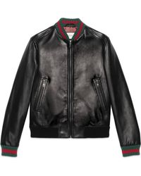 Gucci Jacket With Web - Black