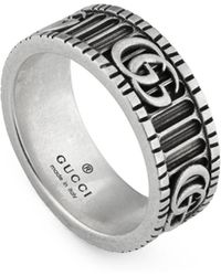 Gucci Ring With Double G In Silver - Multicolor