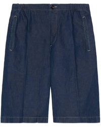 Gucci Bermudashorts aus Denim - Blau