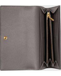 Gucci Zumi Continental Brieftasche aus Leder - Grau