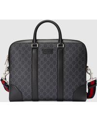 Gucci Aktentasche aus GG Supreme - Schwarz