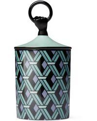 Gucci Herbosum, Mittelgroße Kerze mit Korbmotiv - Grün
