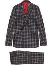Gucci - New Signoria Anzug aus kariertem Flanell - Lyst