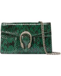 Gucci - - Dionysus Super Mini Snakeskin Bag - Lyst