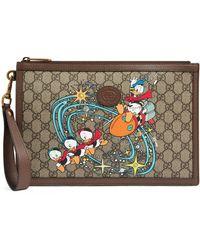 Gucci Disney x Donald Duck Pouch - Natur