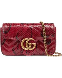 Gucci - Sac super mini GG Marmont en python - Lyst