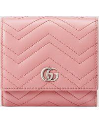 Gucci - グッチ〔GGマーモント〕カードケース ウォレット - Lyst