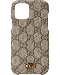 Gucci Ophidia handyhülle, passend für iphone 12/12 pro - Natur