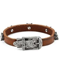 Gucci - Anger Forest Leather Bracelet - Lyst