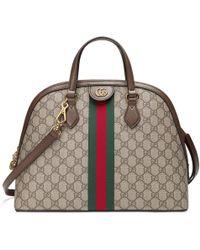 d2c0b43d8f5 Gucci Soft Signature Top Handle Bag in Blue - Lyst