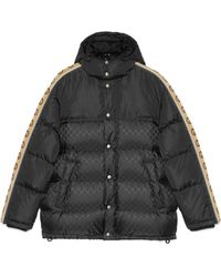 Gucci GG Jacquard Nylon Padded Coat - Black