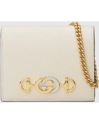 Gucci - グッチ〔グッチ ズゥミ〕チェーン付き カードケース(コイン&紙幣入れ付き) - Lyst