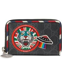 Gucci Night Courrier Gg Supreme Card Case Lyst