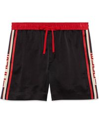Gucci - Shorts aus Acetat mit Streifen - Lyst