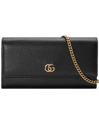 Gucci Marmont Leather Continental Wallet On A Chain