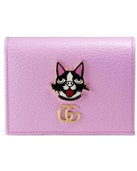 Gucci - Leather Card Case With Bosco - Lyst