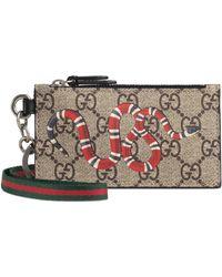 8ffc0d492b40 Gucci Swing Leather Card Case in Orange for Men - Lyst