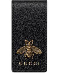 Gucci Fermasoldi Animalier - Nero