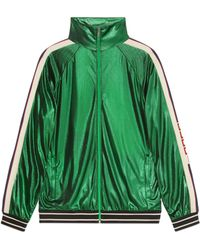 Gucci - Giacca oversize in jersey laminato - Lyst