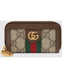 Gucci Ophidia Schlüsseletui mit GG - Braun