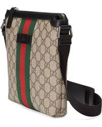 Gucci Web GG Supreme Bag - Natural