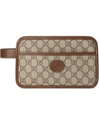 Gucci GG Travel Pouch With Interlocking G - Natural