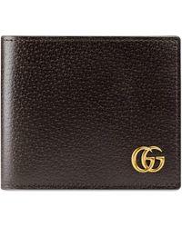 Gucci - Portefeuille à rabat en cuir GG Marmont - Lyst