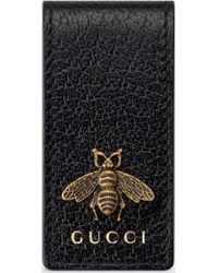 Gucci 【公式】 (グッチ)〔アニマリエ〕レザー マネークリップブラック レザーブラック
