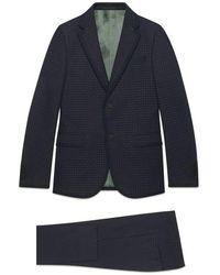 Gucci - Monaco Empty Dots Twill Suit - Lyst