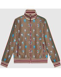Gucci 【公式】 (グッチ)ドラえもん X テクニカルジャージー ジャケット Detail 2ベージュ/エボニーベージュ - マルチカラー