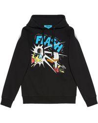 Gucci Sweat-shirt à capuche donald duck disney x - Noir