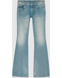 Gucci Washed Stretch Denim Flare Pant - Brown