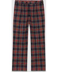Gucci Soft Tartan Pyjama Pant - Blue